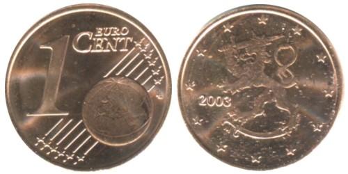 1 евроцент 2003 Финляндия