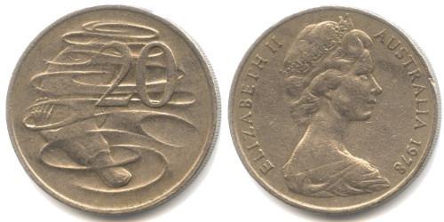 20 центов 1978 Австралия