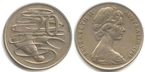 20 центов 1969 Австралия