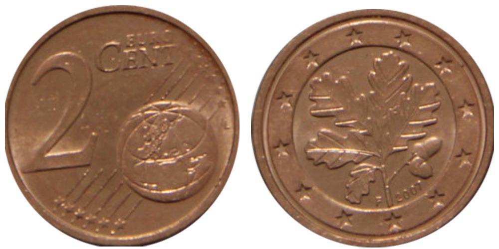 2 евроцента 2007 «F» Германия