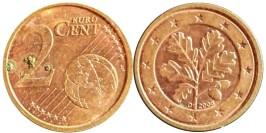2 евроцента 2008 «D» Германия