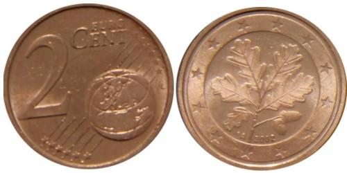 2 евроцента 2002 «А» Германия