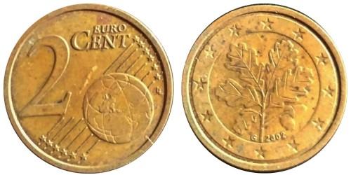 2 евроцента 2002 «G» Германия