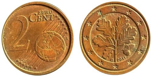 2 евроцента 2008 «G» Германия