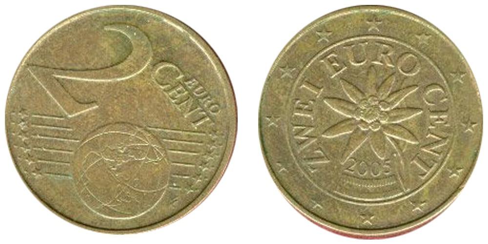 2 евроцента 2005 Австрия