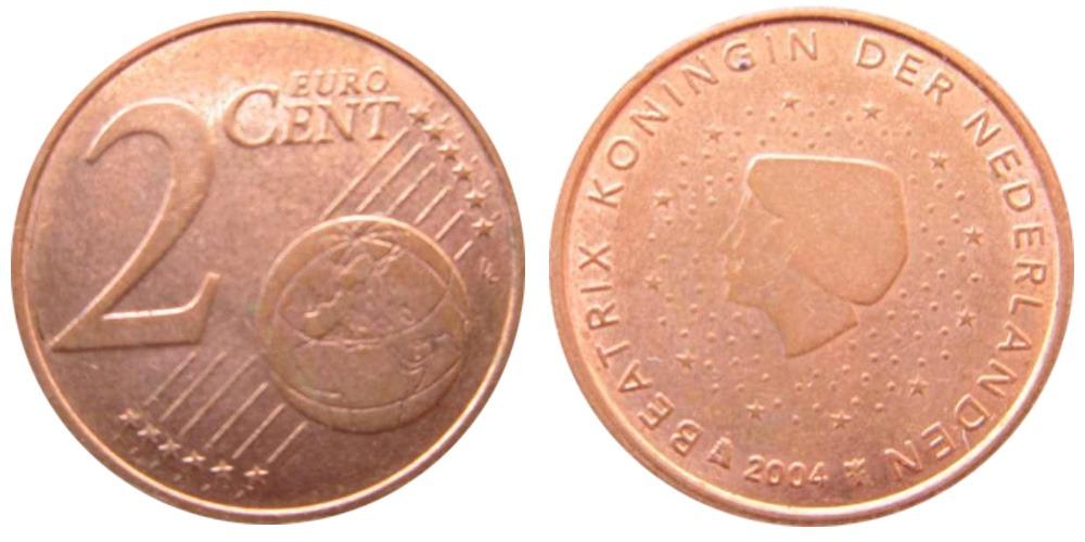 2 евроцента 2004 Нидерланды