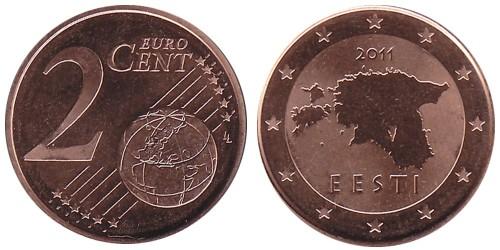 2 евроцента 2011 Эстония