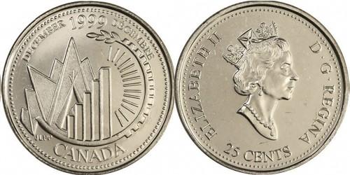 25 центов 1999 Канада — Миллениум — Декабрь 1999, Это Канада UNC