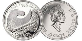 25 центов 1999 Канада — Миллениум — Октябрь 1999, Дань первым нациям UNC