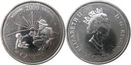 25 центов 2000 Канада — Миллениум — Мудрость UNC
