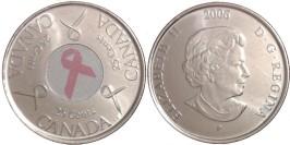 25 центов 2006 Канада — Розовая ленточка — Борьба с раком молочной железы UNC