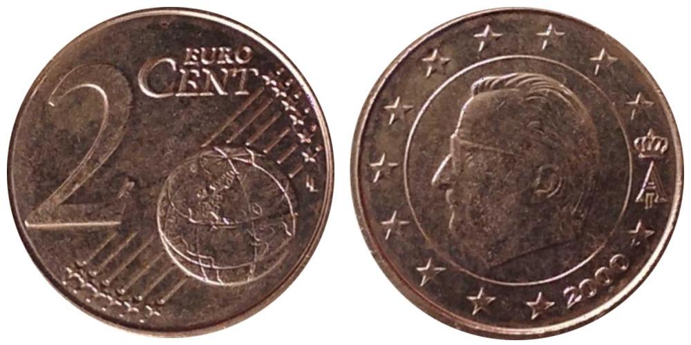 2 евроцента 2000 Бельгия