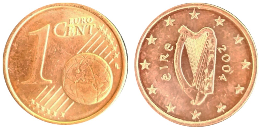 1 евроцент 2004 Ирландия UNC