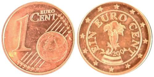 1 евроцент 2004 Австрия