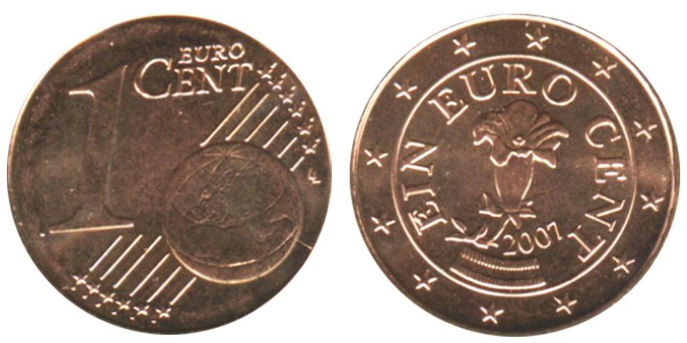 1 евроцент 2007 Австрия