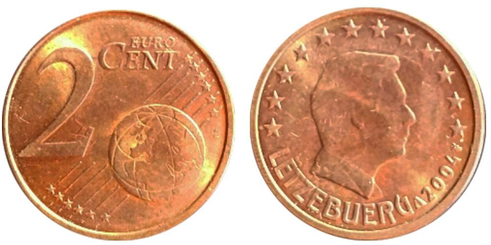 2 евроцента 2004 Люксембург