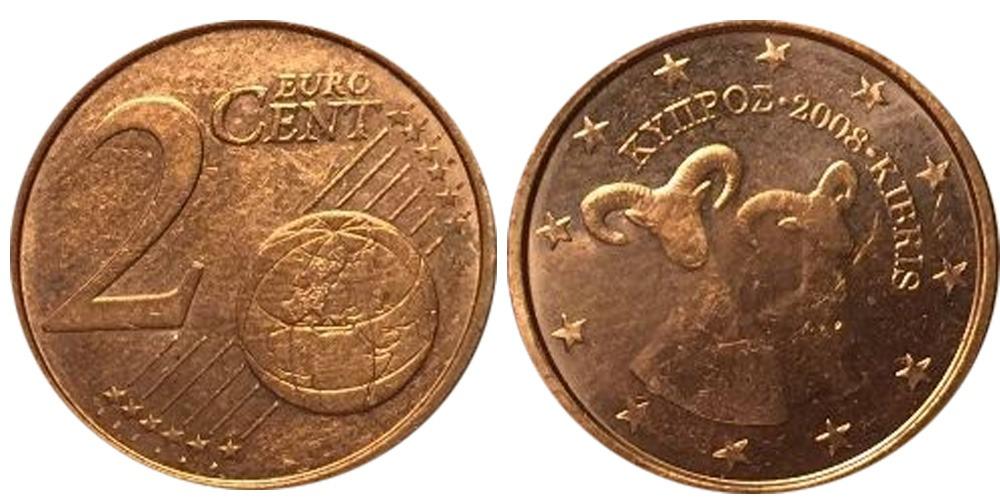 2 евроцента 2008 Кипр