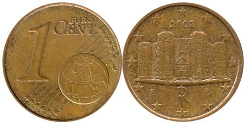 1 евроцент 2002 Италии