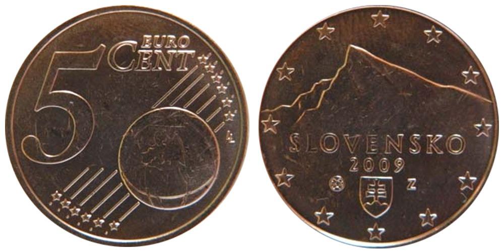 5 евроцентов 2009 Словакии
