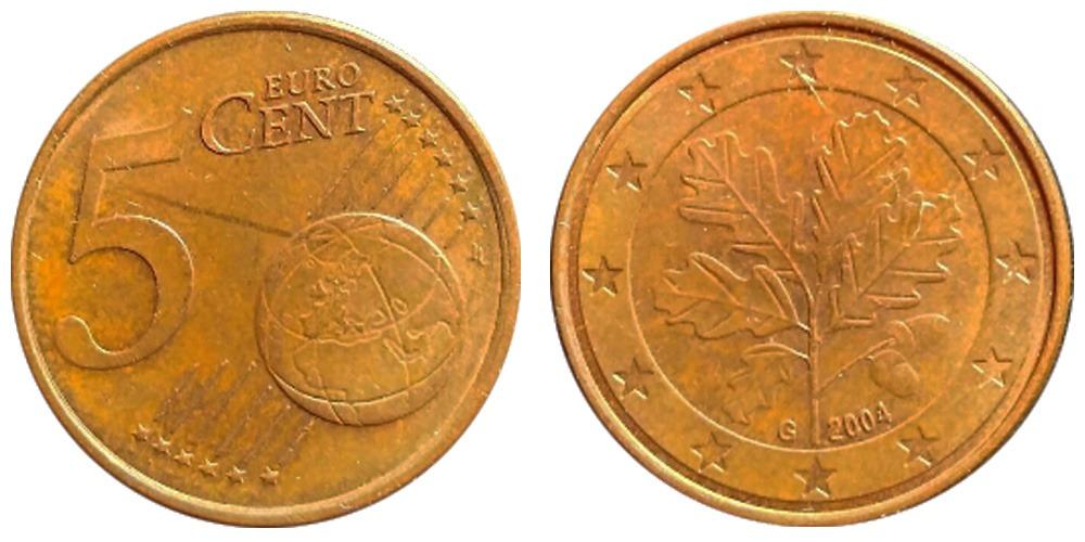 5 евроцентов 2004 «G» Германия