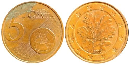 5 евроцентов 2006 «J» Германия