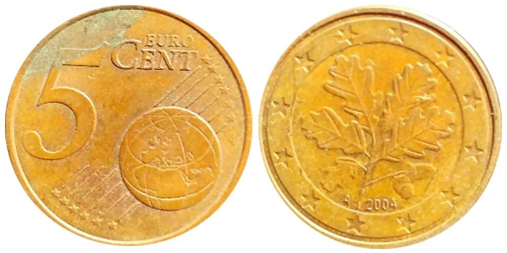 5 евроцентов 2004 «A » Германия