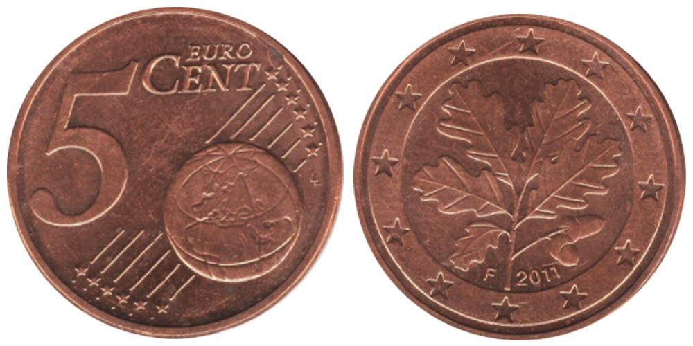 5 евроцентов 2011 «F» Германия