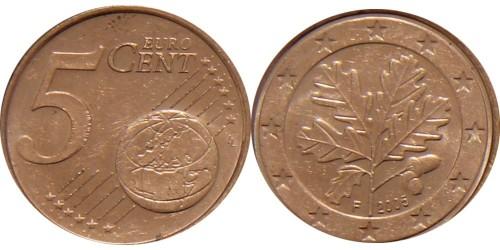 5 евроцентов 2005 «F» Германия