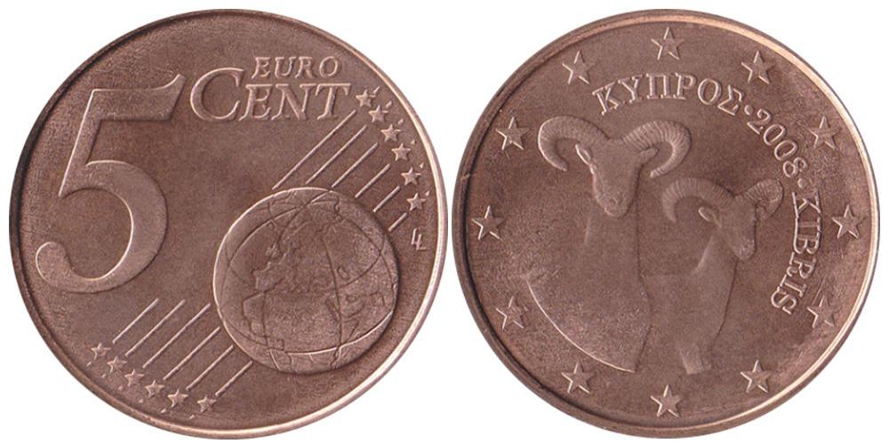 5 евроцента 2008 Кипр
