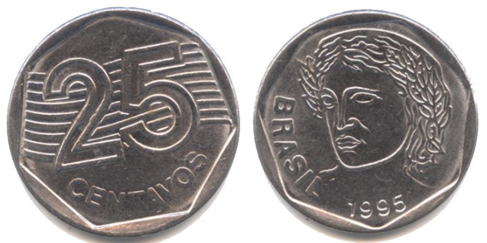 25 сентаво 1995 Бразилия