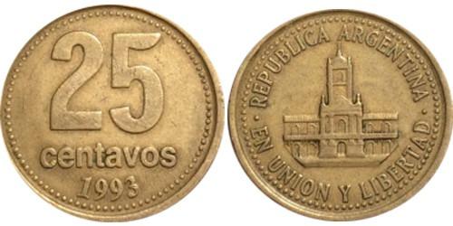 25 сентаво 1993 Аргентина