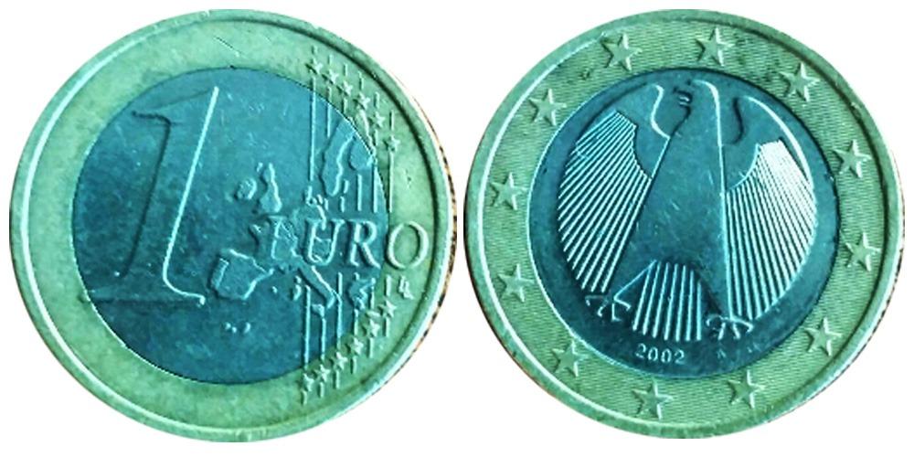 1 евро 2002 «А» Германия