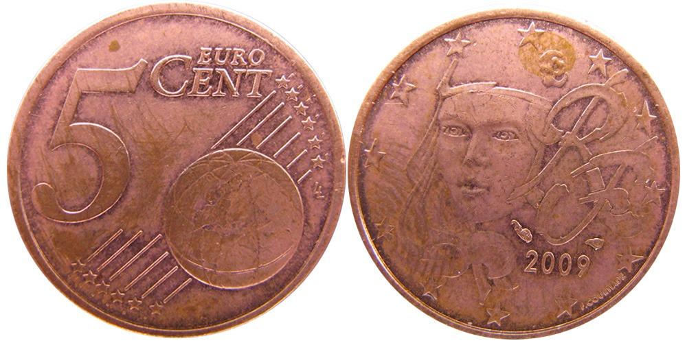 5 евроцентов 2009 Франция