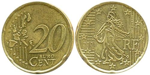 20 евроцентов 2001 Франция