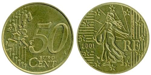 50 евроцентов 2001 Франция