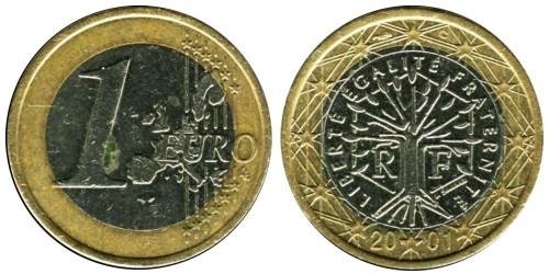 1 евро 2001 Франция