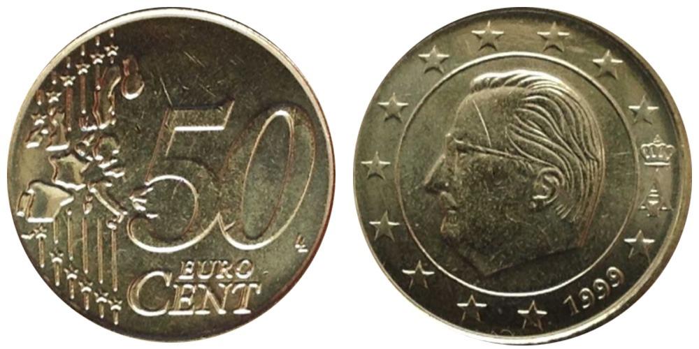 50 евроцентов 1999  Бельгия