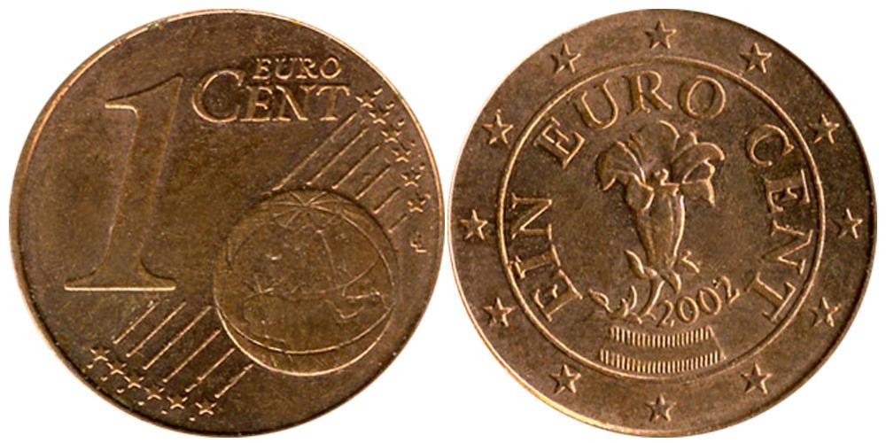 1 евроцент 2002 Австрия