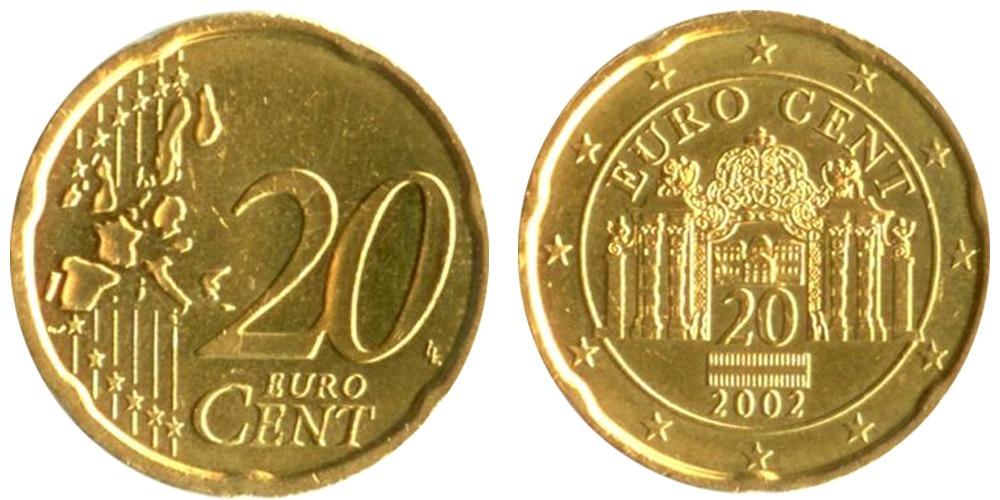 20 евроцентов 2002 Австрия