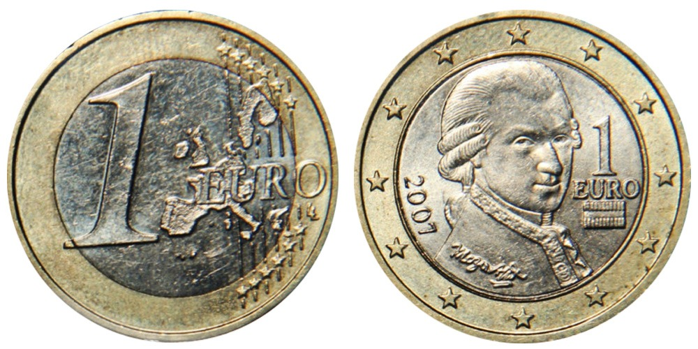 1 евро 2007 Австрия