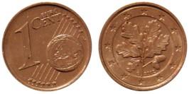 1 евроцент 2002 «G» Германия UNC