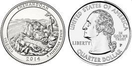 25 центов 2014 P США — Национальный парк Шенандоа (Виргиния) UNC