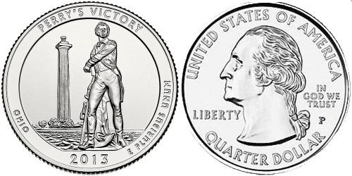 25 центов 2013 P США — Международный мемориал мира (Огайо) UNC