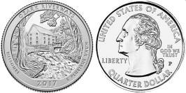 25 центов 2017 P США — Национальные водные пути Озарк (Миссури) UNC