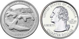 25 центов 2017 D США — Национальный памятник Эффиджи-Маундз Айова — Effigi Mounds Iowa UNC