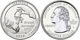 25 центов 2015 D США — Национальный исторический парк Саратога (Нью-Йорк) UNC