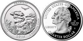 25 центов 2016 S США — Национальный лес Шоуни Иллинойс — Shawnee Illinois National Forest UNC