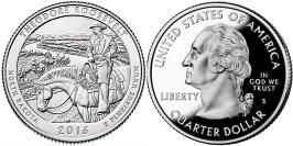 25 центов 2016 S США — Национальный парк Теодор-Рузвельт Северная Дакота -Theodore Roosevelt UNC
