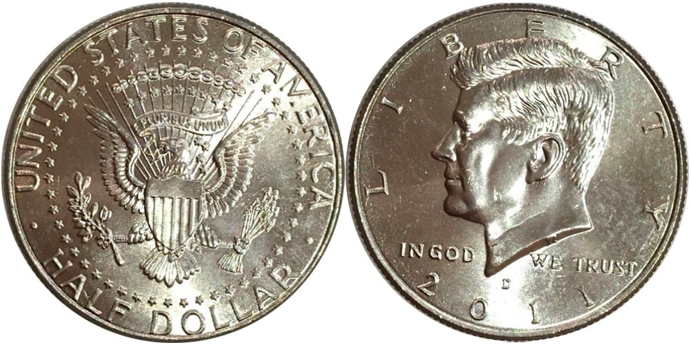 50 центов 2011 D США UNC
