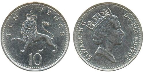10 пенсов 1992 Великобритания